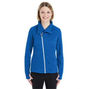 North End Ladies' Amplify Melange Fleece Jacket